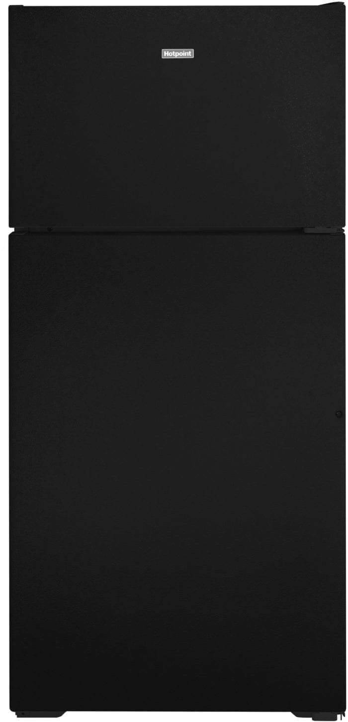 Hotpoint Freestanding Top Freezer Refrigerator with 15.6 Cu. Ft. Capacity-HPS16BTNLBB-TWS