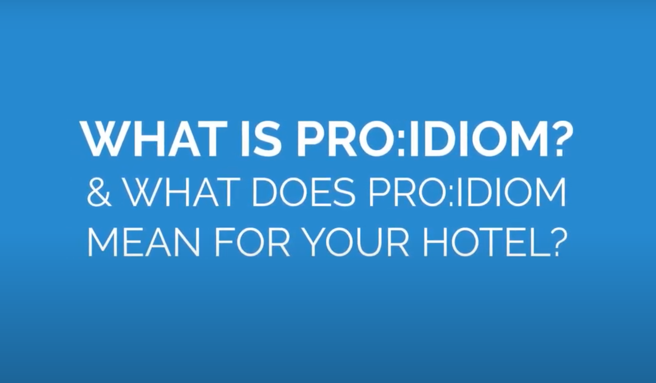 What is Pro:Idiom?